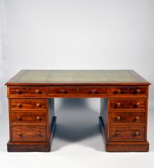 Mahogany Partners Desk - A14492