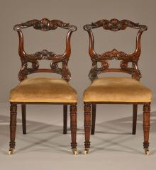 Exceptional Pair of Hall Chairs - A15859