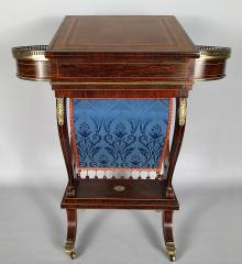 Superb Regency Rosewood and Brass Mounted Ladies Work Table - R16537
