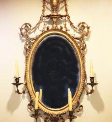 Superb Oval Hepplewhite Mirror - R17349