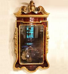 Superb George III Mahogany and Gilded Looking Glass  - R16882